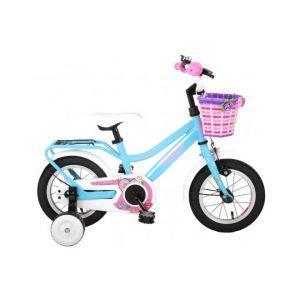 Volare brillante bicicletta per bambini 12 pollici blu assemblata al 95%