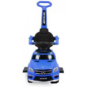 Mercedes G-klasse loopauto blauw vooraanzicht handgreep