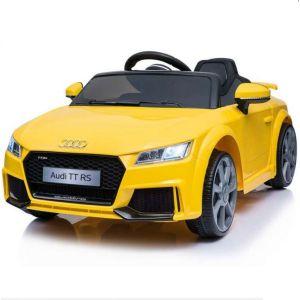 Auto elettrica per bambini Audi TT RS Gialla