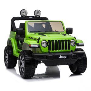 Jeep elettrica per bambini Wrangler verde rubicon