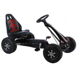 Volare Go Kart Racing Car - Ragazzi - Large - Pneumatici - nera