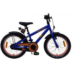 NERF bicicletta per bambini per ragazzi 18 pollici blu satinato