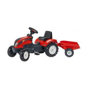 "Falk tractor met pedalen ""trac"" rood"