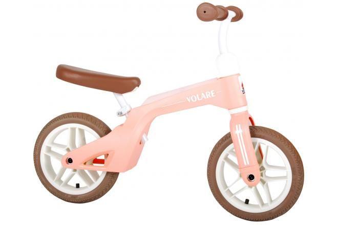 Volare bici senza pedali per ragazzi e ragazze 10 pollici rosa