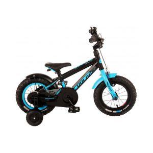 Volare bicicletta per bambini Rocky 12 pollici nera / blu assemblata al 95% collezione prime