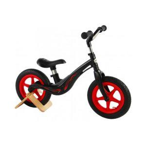 Volare bici senza pedali in magnesio per ragazzi e ragazze 12 pollici nera