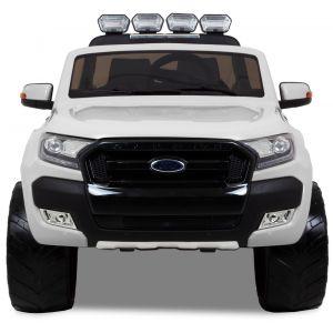 Ford Ranger kinderauto wit zijspiegels voorruit voorbanden