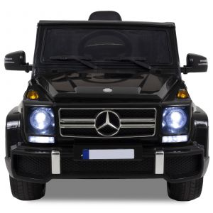 Mercedes G63 AMG kinderauto zwart koplampen grill logo