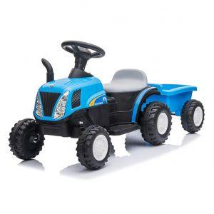 Kijana trattore elettrico per bambini con rimorchio blu