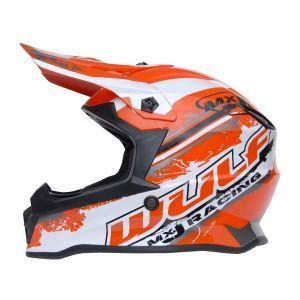 Wulfsport casco per bambini Junior Cub Off Road Pro - rosso