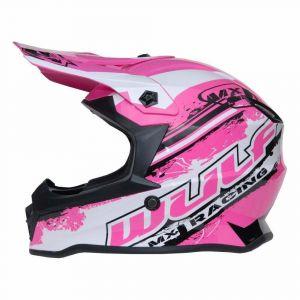 Wulfsport casco per bambini Junior Cub Off Road Pro - rosa
