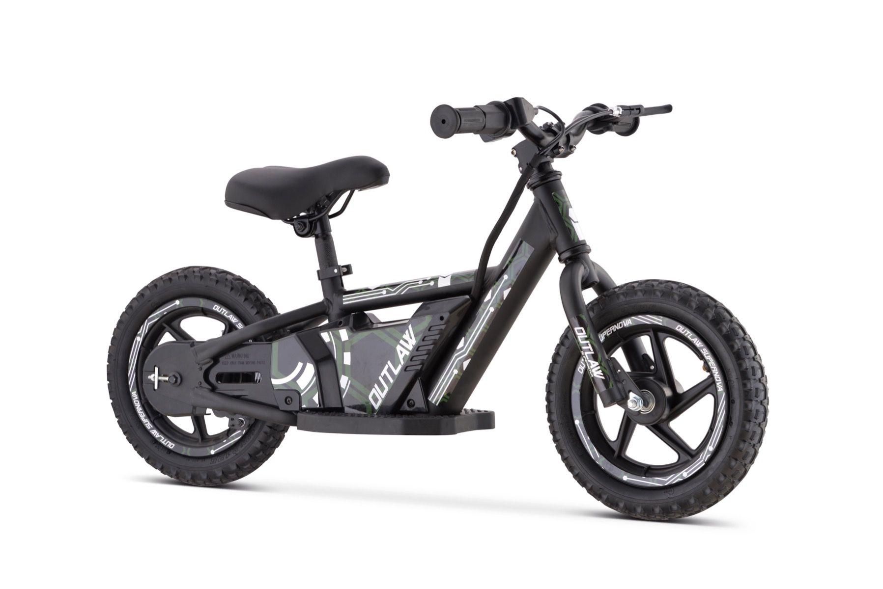 """Outlaw balance bike elettrica 24V al litio con ruote da 16 """"- verde"""