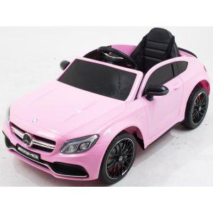 Mercedes auto elettrica per bambino C63 AMG rosa