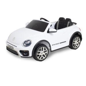 VW auto elettrica per bambini Dune Beetle bianca