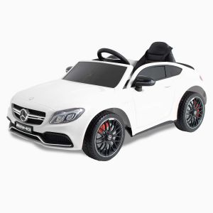 Mercedes auto elettrica per bambini C63 AMG bianca