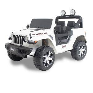 Jeep auto elettrica per bambini Wrangler bianca