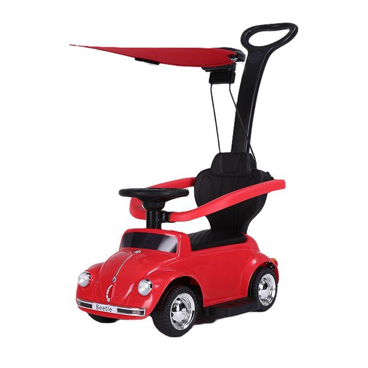 Volkswagen Maggiolino cavalcabile con parasole rosso