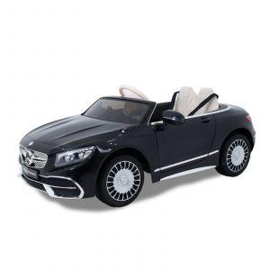 Mercedes Maybach auto elettrica per bambini S650 cabrio nera