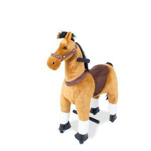 Kijana cavalcabile cavallo giocattolo marrone piccolo