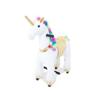 Kijana giro unicorno su arcobaleno giocattolo piccolo
