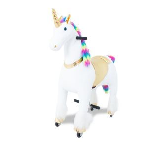 Kijana giro unicorno su arcobaleno giocattolo grande