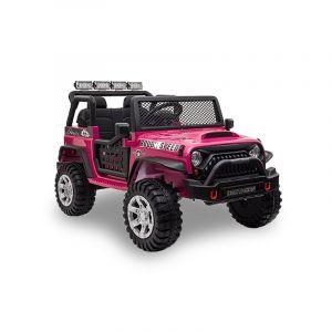Auto elettrica per bambini Kijana Jeep rosa