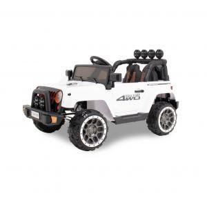 Kijana auto elettrica per bambini Jeep bianca