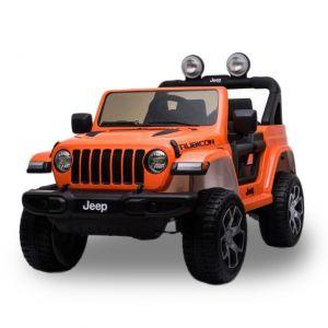 Jeep auto elettrica per bambini Wrangler Rubicon arancione