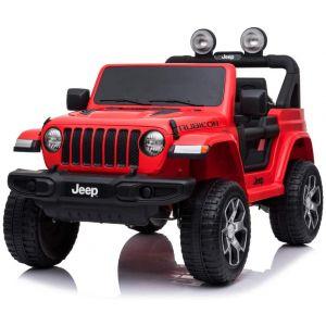 Jeep auto elettrica per bambini Wrangler rossa