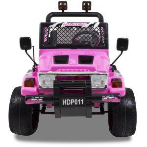Jeep auto elettrica per bambini rosa