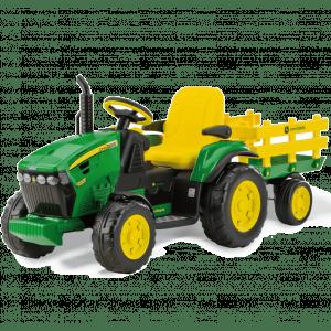 Peg Perego trattore per bambini con rimorchio verde John Deere