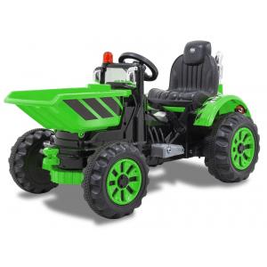 Kijana trattore elettrico con benna verde
