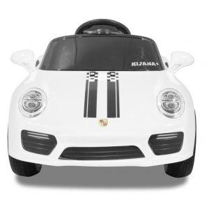 Kijana auto elettrica per bambini stile Porsche bianca