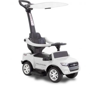 Ford Ranger kinderauto zonnescherm wit zijaanzicht vooraanzicht koplamp
