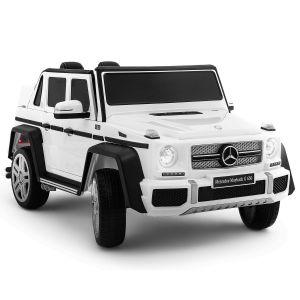 Auto elettrica per bambini Mercedes Maybach G650 bianca