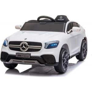 Mercedes auto elettrica per bambini GLC coupé bianca