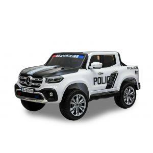 Mercedes elektrische kinderauto politie pick-up 2-zits