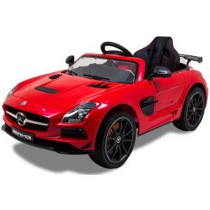 Mercedes auto elettrica per bambini AMG SLS rosso