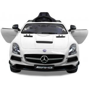 Mercedes auto elettrica per bambini AMG SLS bianca