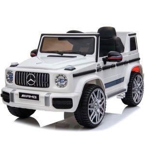 Mercedes auto elettrica per bambini G63 sport cabriolet bianco