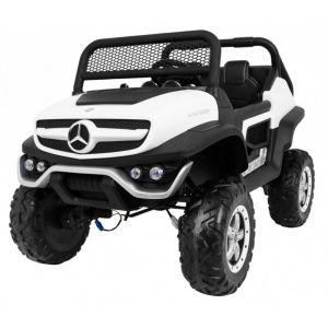 Mercedes auto elettrica per bambini Unimog Mini bianca