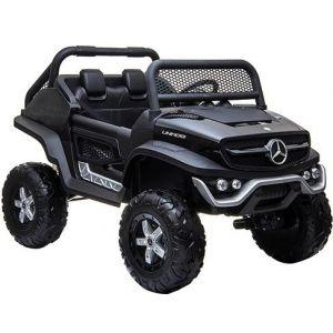 Mercedes auto elettrica per bambini Unimog Mini nera