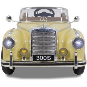 Mercedes elektrische kinderauto 300s crème