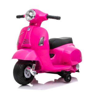Mini scooter vespa elettrico per bambini rosa
