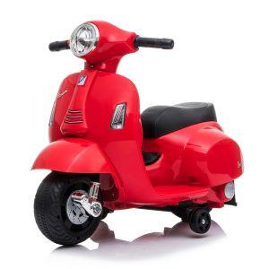 Scooter elettrico per bambini mini vespa rosso