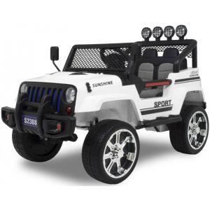 Jeep auto elettrica per bambini Monster bianca