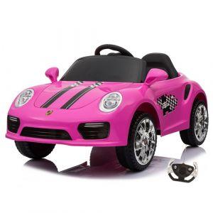 Kijana auto elettrica per bambini Speedy stile Porsche rosa