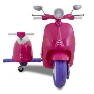 Vespa kinderscooter zijspan roze prijstechnisch autovoorkinderen autosvoorkinderen