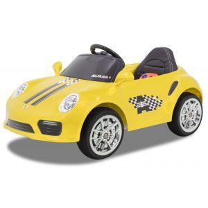 Kijana auto elettrica per bambini Speedy stile Porsche giallo