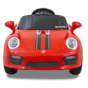 Kijana auto elettrica per bambini Speedy stile Porsche rossa